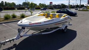 Seadoo Sportster LE with a trailer