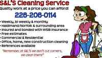 S and L's Cleaning now has openings for commercial cleanings