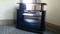 Glass-front Black TV Unit