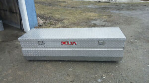 Truck tool box and tunnel cover