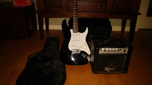 Electric guitar w/  15watts amp