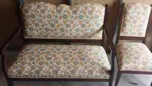 Antique Settee and Two Chairs