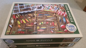 2 like new cobble hill 1000 pc puzzles