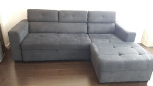 Sectional Sofa with sofa bed and storage