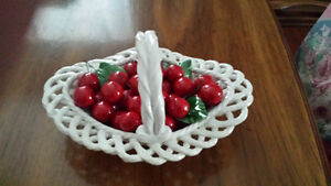 Vintage Basket of Cherries by BASSANO Italy