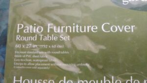 Patio furniture round table cover. Excellent condition20.00