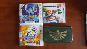 Selling a used New 3DS XL with charger, stylus, and 3 games