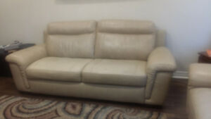 genuine leather sofa set for sale