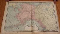 1901 ANTIQUE MAP OF ALASKA AND FORT YUKON