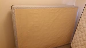 3 layer foam mattress  and box spring