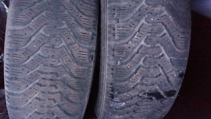 2 WINTER TIRES 195/70/r14