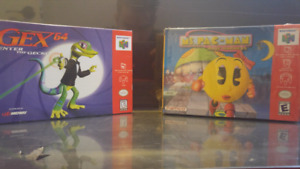Selling Gex 64 & Ms Pac-Man