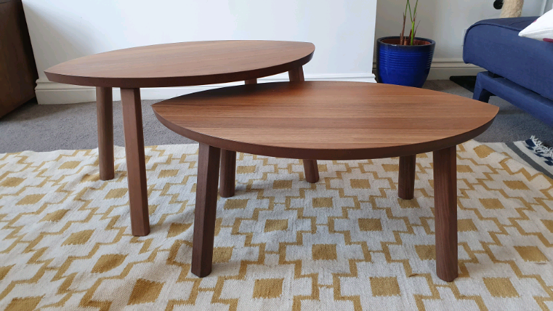 Sensational Nesting Side Coffee Tables Ikea Stockholm Walnut In Forest Hill London Gumtree Gmtry Best Dining Table And Chair Ideas Images Gmtryco