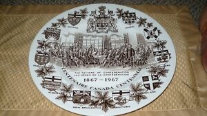 "VINTAGE LOVELY ""THE FATHER'S OF CONFEDERATION 1867-1967"" PLATE Kitchener / Waterloo Kitchener Area image 1"