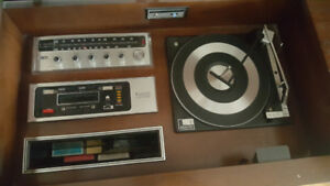 Zenith record player and 8 track stereo player/recorder