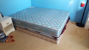 Queen sized mattress + Box spring + Frame