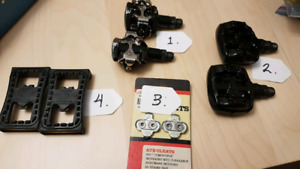 clipless pedals and cleats shimano bontrager