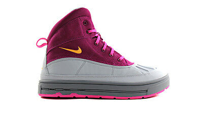 Nike Big Kids WOODSIDE 2 HIGH (GS) NEW AUTHENTIC Raspberry Red 524876-601