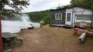 Lakefront camp for sale at the oldmill campground