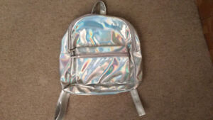 Brand New Summer Chic Silver Hologram Laser Backpack