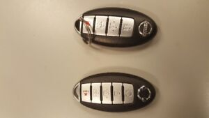 OFFERING 2 NISSAN KEY FOBS COMPATABLE WITH MOST MODELS