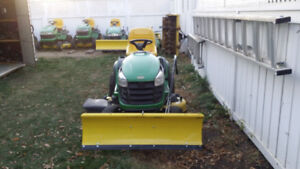 "John Deere D140 with a 48"" deck & a BRAND NEW 46"" snow blade"