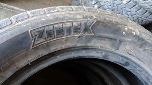 Set of 4 Zeetex WH1000 225/60R18 WINTER tires (65% tread life)