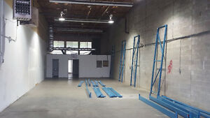 Warehouse space with forklift