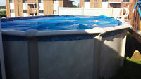 pool 15x30 with pump, solar blanket. filter, propane heater etc.