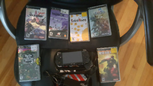 PSP with 6 games and charger