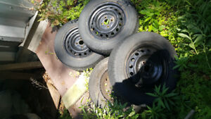 14 Inch Steel Rims and Tires (4x100)