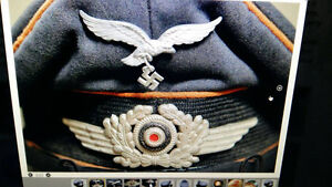 German WWII winged cockade from the Luftwaffe officer cap Rare