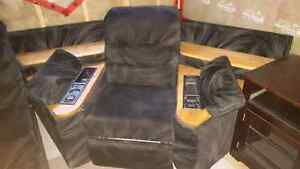 Sectional Sofa w/ two recliners and hide away bed