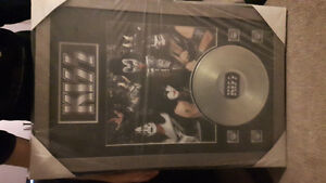 KISS LTD EDITION Commemorative RECORD DISPLAY 2x3