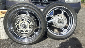 Crome cbr600 rims and tires