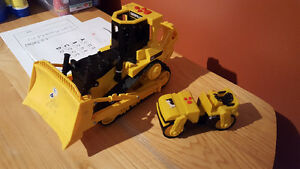 Bulldozer and cement roller