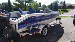 1997 Prince craft with 115 evenrude with trailer  Peterborough Peterborough Area image 4