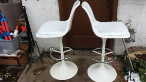 High Back Stools or Chairs Crisp White Strathcona County Edmonton Area image 7