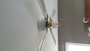 4 blade ceiling fan with light