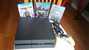 PS4 500GB & Games (Great Condition)