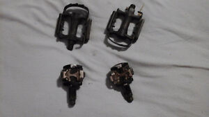 Two sets of pedals