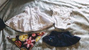 Dress, Bandana Bib, Onesie and Skirt