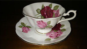 Bone China cups and saucers and creamer and sugar REDUCED Sarnia Sarnia Area image 2