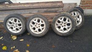 5x100 bolt pattern Mag et pneus 195/60R15 Mag and winter tires Gatineau Ottawa / Gatineau Area image 1
