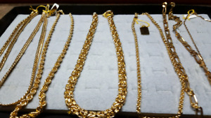 BRACELETS CHAINS, RINGS, PENDENTS, GOLD FILLED JEWELRY . LIFE L