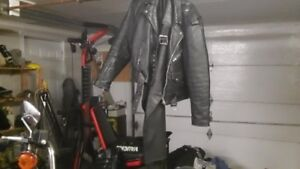 Motor cycle jacket and chaps