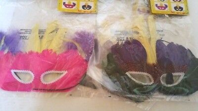 Halloween Costumes Wholesale Prices (4 Mardi Gras Mask Costume Halloween Price is for 4 of)