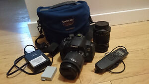 Canon 700D (T5i) with 18-55mm, 55-250mm lens kit, extra battery