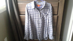 Ladies Joe fresh plaid shirt size xl