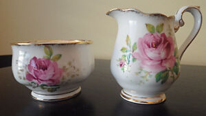 Royal Albert American Beauty Creamer and Sugar Bowl